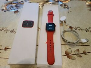 Apple Watch Series 6 44mm Red Aluminum Case Red Sport Band (GPS)
