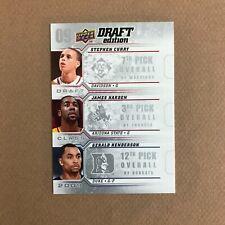 2009-10 Upper Deck Draft Edition James Harden Stephen Curry Gerald Henderson RC
