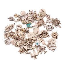36pcs/lot Mixed KC Gold European Bracelset Charm Pendants For Jewelry DIY Making