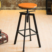 VINTAGE RETRO SWIVEL BAR STOOL COUNTER CAFE CHAIR INDUSTRIAL URBAN RUSTIC