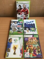 Lotto giochi Xbox 360 Fifa Kinect adventures PES