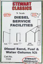 Stewart N Scale #1103 Diesel Sand, Fuel & Water Column Kit (White Metal Kit)