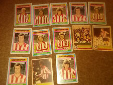 Southampton 1970's Old football cards x 13
