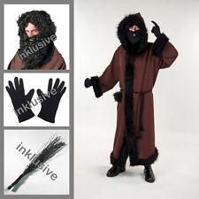 Knecht Ruprecht Kostüm Perücke | Bart | Rute | Handschuhe | Mantel | Kordel