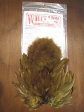 Fly Tying Whiting Rooster Soft Hackle w/Chickabou Dark Olive #F