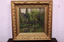 Quadro dipinto olio su tela con cornice paesaggio XX sec painting oil on canvas