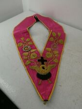 More details for masonic vintage rose croix 18th degree collar h33