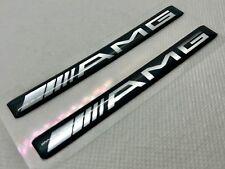 2 pcs. Mercedes Benz AMG logo 3D Domed Sticker. Black.  97x10 mm