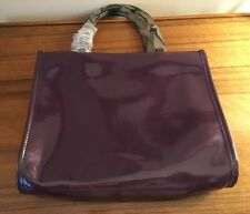 New Neiman Marcus Ltd Ed Purple Patent & Lucite Look Tote-New
