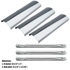 Replacement Master Forge SH3118B Gas Grill Stainless Steel Burners & Heat Plates