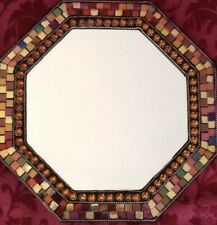 New ListingPartyLite Global Fusion Mirrored Candle Tray Mosaic Holder Wall Mirror Retired