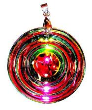 PENDANT/NECKLACE ST Glass Crystal Large Bright RAINBOW ROUND DROP