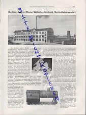 Berlin-Reinickendorf, publicité 1911, de Berlin A. - Werke Wilhelm Reinhold
