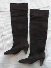 Boots over-knee tall women's 6 or 7 DOLCE VITA brown real suede heel pull-on NEW