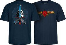 Powell Peralta TRIPLE P SKULL AND SWORD Skateboard Shirt NAVY XXL