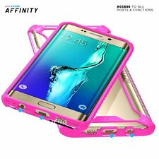 For Samsung Galaxy S6 Edge Plus + Shockproof 360° Bumper TPU Cover Case Pink