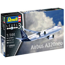 """Revell Airbus A320neo Lufthansa """"New Livery"""" Aircraft Model Kit - Scale 1:144"""