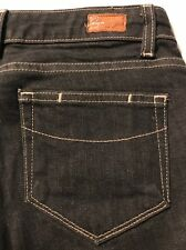 Paige Melrose Straight Leg Distressed Jeans Women's Stretch Size 25 X 35