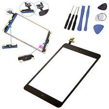iPad Mini Display Scheibe Schwarz IC-Chip Touchscreen Homebutton Glas +Werkzeug