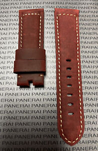 Panerai Red OEM Suede Strap 24mm Lug for Tang Buckle
