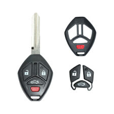 1x Uncut Replacement Shell 4 Buttons Remote Key Fob Case For Mitsubishi Lancer