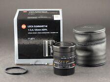 Leica M 35mm 2.4 Summarit 6bit NERO 11671 del 29.08.16 foto-GOERLITZ acquisto