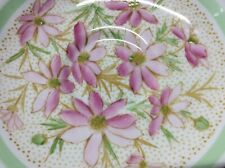 Tuscan Fine English Bone China Saucer Plate Pink Mint Floral Spring from England