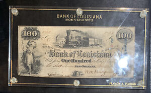 1853 $100 Bank Of Louisiana, New Orleans
