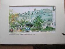 "Red Lion Inn in October/ Matted Watercolor Print/ 9"" x 12""/ Mimi Davis, Artist"
