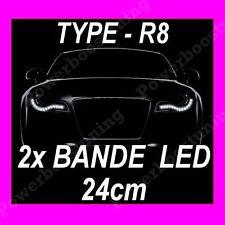 BANDE A LED SOUPLE BLANCHE PHARE FEUX DE JOUR DIURNE BLANC XENON INTERIEUR 12V