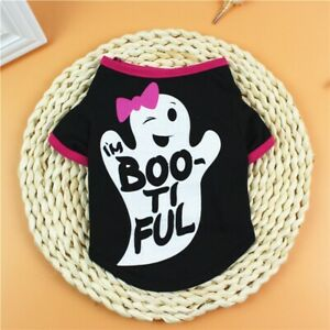 Dog Cat Clothes T-Shirt Costume Pet Dogs Puppy Halloween Dress Apparel Clothing