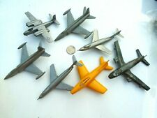 1960's Plasticville silver plastic Swept Wing Jets & airplane lot
