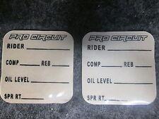 Universel Pro Circuit motocross fourche+choc tech paramètres graphique