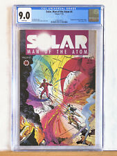 SOLAR Man of the Atom #4 : CGC 9.0 VF/NM : 1991 Valiant, Shooter Perlin Layton
