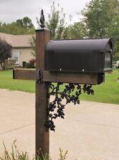 Mailbox Post Dress Kit, Acorn Pattern, Wrought Iron Angle bracket and Post caps