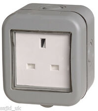 BG Weatherproof Ip55 13amp Unswitched 1 Gang Socket
