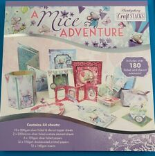 """Hunkydory Mice Adventure Craft Stacks 44  8x8"""" Sheets Foiled Mouse"""