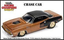Racing Champions CHASE CAR '71 Plymouth Barracuda 1:64th Scale Car By Auto World