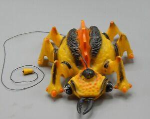original 1960's Hamilton INVADERS giant yellow bug monster plastic toy REMCO !!!
