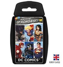 TOP TRUMPS DC SUPERHEROES CARD GAME Family Kids Fun Play Quiz Christmas Gift UK