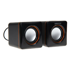 USB 3.5mm Stereo Mini Speaker Subwoofer for Desktop Laptop Notebook Tablet PC