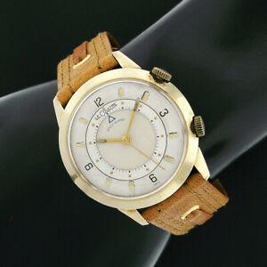 Vintage LeCoultre Memovox Alarm 10k GF 35mm Mechanical Wrist Watch 17j Cal 814