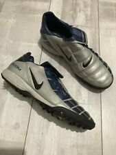 Nike Total 90 Zoom Air Indoor Shoes Soccer Silver Blue US8.5 UK7.5 EUR42 RARE