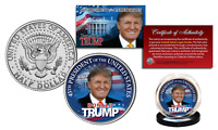 DONALD TRUMP Official JFK Half Dollar U.S Coin w/ COA - LIMITED EDITION of 500