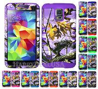KoolKase Hybrid Silicone Cover Case for Samsung Galaxy S5 i9600 - Camo Purple