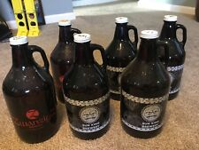 Lot Of 6 Glass Growler Swanzig Z Sun King Indiana IN Beer Brewery Columbus Free