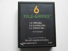 6 Tele-Games (Atari 2600, 1979) Game Only---NTSC-US/CA