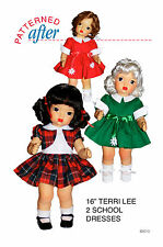 "Two School Dresses Pattern For 16"" Terri Lee Doll"