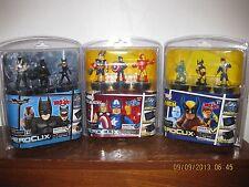 Marvel SUPER HEROES DARK KNIGHT & X-MEN TabApp Portable Heroclix 9 FIGURES TOTAL