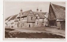 Old Houses & Barn Lacock Vintage RP Postcard 197a
